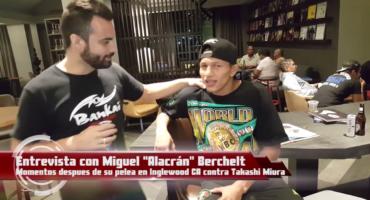 Entrevista con Miguel Angel Bercheltdespues de su defensa contra Miura